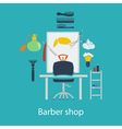 Barber shop flat design vector image