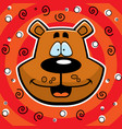 bear smiling vector image vector image