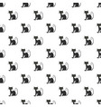 black cat pattern vector image