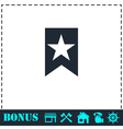 Bookmark icon flat vector image vector image