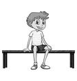 Boy sitting vector image vector image