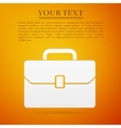Business case flat icon on orange background vector image vector image