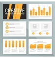 business presentation template set Graph vector image vector image