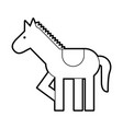 carousel horse isolated icon vector image vector image