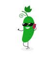 cartoon cucumber vector image