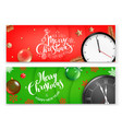 christmas banners template merry vector image