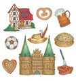colorful germany icon set vector image vector image