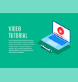 concept for online education vector image vector image