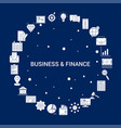 creative business and finance icon background vector image
