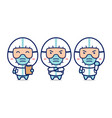 cute doctor nurse medical staff pose set vector image vector image