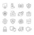data protection and internet security icons vector image vector image