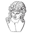 dionysus vintage vector image vector image