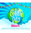 earth day congratulation banner vector image
