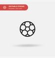 football simple icon symbol vector image vector image