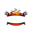 grill template emblem blank vector image vector image