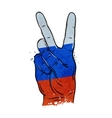 hand gesture of victory flag Russia Moscow vector image vector image