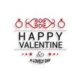 happy valentines day card with white background vector image