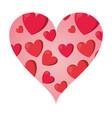 hearts inside heart frame vector image vector image