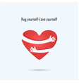 Hug yourself logo vector image vector image