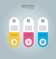 infographic design business concept with 3 vector image