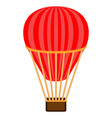 isolated air balloon transport vector image vector image