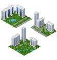 isometric city set urban landscape 3d elements vector image vector image
