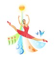 jumping ballet dancer vector image