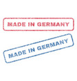 made in germany textile stamps vector image vector image