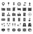 map location pin and navigation solid icon vector image