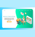 medical consultation landing page website vector image