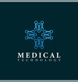 medical technology logo design template vector image