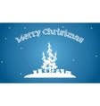 Merry Christmasof of silhouette simple backgrounds vector image vector image