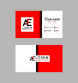 modern creative business card template with ae vector image vector image