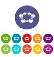 molecule medical icons set color vector image vector image