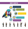 money isometric infographic business man steps vector image