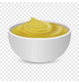 mustard sauce bottle icons set realistic style vector image vector image