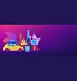retirement travel concept banner header vector image vector image