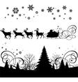 santas sleigh vector image vector image