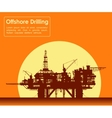 Sea oil rig Offshore drilling platform vector image vector image