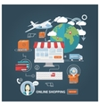 Shopping concept flat vector image vector image