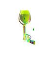 shot drink revolver sketch goblet absinthe vector image