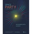 Space party poster vector image