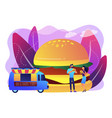 street food concept vector image