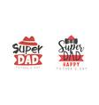 super dad logo design collection happy fathers vector image vector image