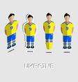 Ukraine Soccer Team Sportswear Template vector image vector image