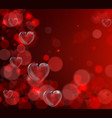 valentines day heart background vector image vector image