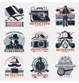 Vintage Detective Labels Set vector image vector image