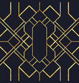 vintage gold black art deco seamless pattern vector image vector image