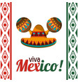 viva mexico celebration heritage card vector image vector image