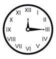 Wall clock icon simple style vector image vector image